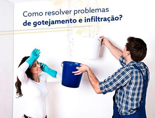 Como resolver problemas de gotejamento e infiltração?