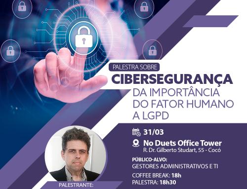 Cibersegurança é tema de palestra no dia 31 de março