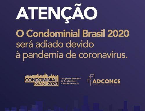 Condominial Brasil 2020 é adiado devido à pandemia de coronavírus
